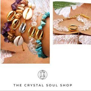 Jewelry - JustIn🎉Boho Beaded Natural Stone&Cowrie Bracelet